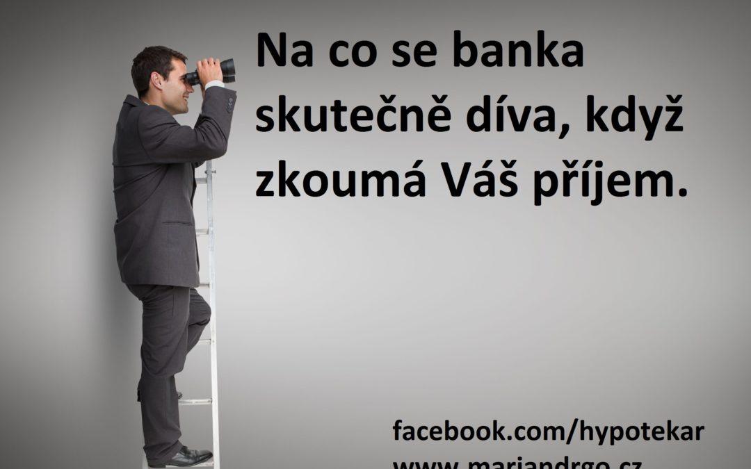 Jak banka ověřuje příjem