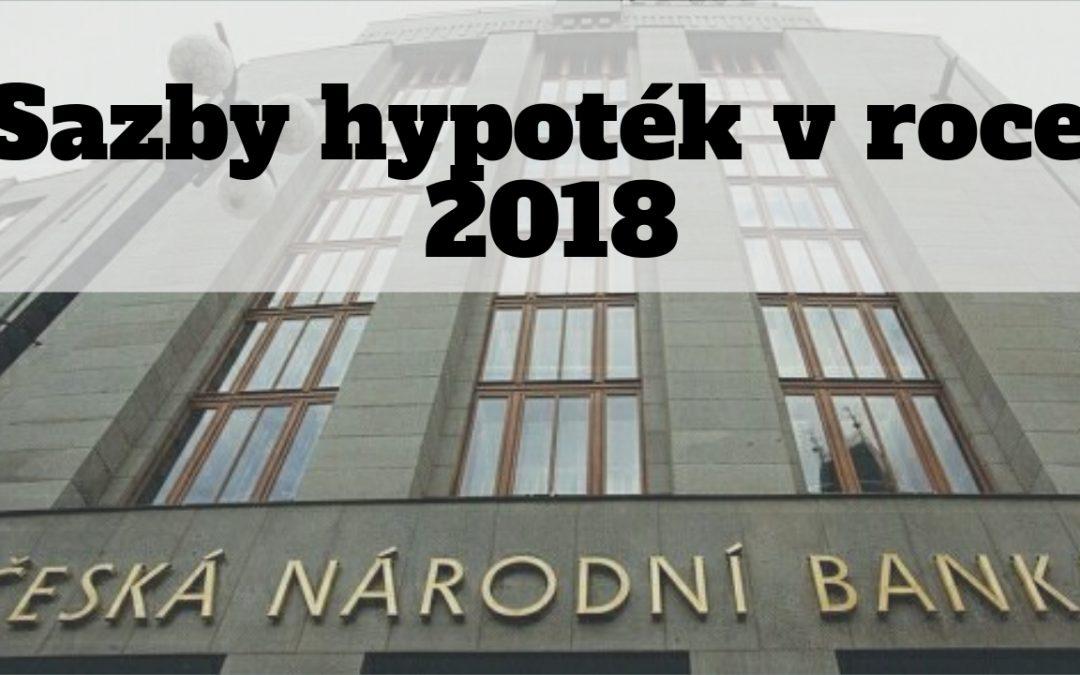 Sazby hypoték 2018